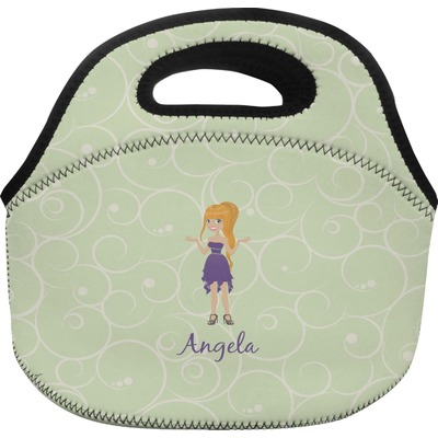 Custom Character (Woman) Lunch Bag - Large (Personalized)