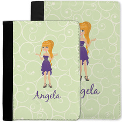 Custom Character (Woman) Notebook Padfolio w/ Name or Text