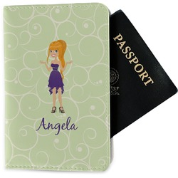Custom Character (Woman) Passport Holder - Fabric (Personalized)