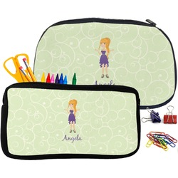 Custom Character (Woman) Pencil / School Supplies Bag (Personalized)