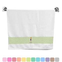 Custom Character (Woman) Bath Towel (Personalized)