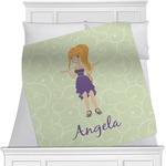 Custom Character (Woman) Minky Blanket (Personalized)