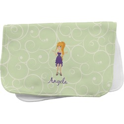Custom Character (Woman) Burp Cloth (Personalized)