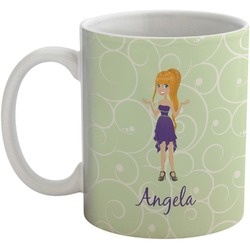 Custom Character (Woman) Coffee Mug (Personalized)