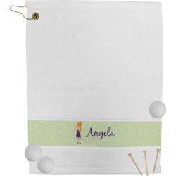 Custom Character (Woman) Golf Towel (Personalized)