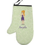 Custom Character (Woman) Left Oven Mitt (Personalized)