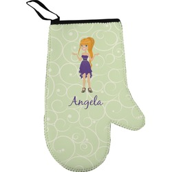 Custom Character (Woman) Oven Mitt (Personalized)
