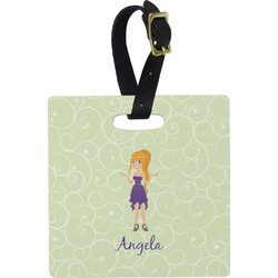 Custom Character (Woman) Luggage Tags (Personalized)