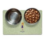 Custom Character (Woman) Dog Food Mat (Personalized)