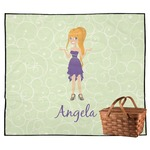 Custom Character (Woman) Outdoor Picnic Blanket (Personalized)