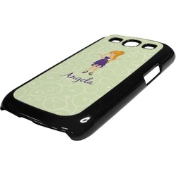 Custom Character (Woman) Plastic Samsung Galaxy 3 Phone Case (Personalized)