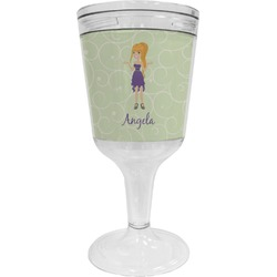 Custom Character (Woman) Wine Tumbler - 11 oz Plastic (Personalized)