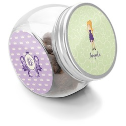 Custom Character (Woman) Puppy Treat Jar (Personalized)