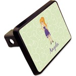"""Custom Character (Woman) Rectangular Trailer Hitch Cover - 2"""" (Personalized)"""
