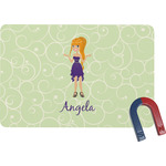 Custom Character (Woman) Rectangular Fridge Magnet (Personalized)