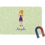 Custom Character (Woman) Rectangular Fridge Magnet (Personalized)