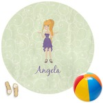 Custom Character (Woman) Round Beach Towel (Personalized)