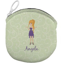Custom Character (Woman) Round Coin Purse (Personalized)
