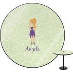 Custom Character (Woman) Round Table (Personalized)