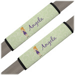 Custom Character (Woman) Seat Belt Covers (Set of 2) (Personalized)