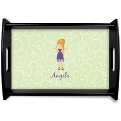 Custom Character (Woman) Wooden Trays (Personalized)