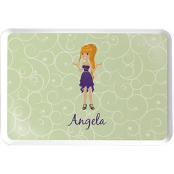 Custom Character (Woman) Serving Tray (Personalized)