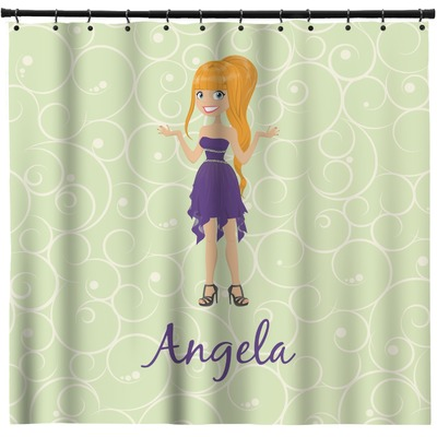 Custom Character (Woman) Shower Curtain (Personalized)