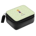 Custom Character (Woman) Small Leatherette Travel Pill Case (Personalized)