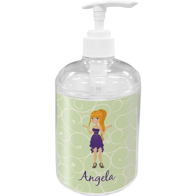 Custom Character (Woman) Acrylic Soap & Lotion Bottle (Personalized)