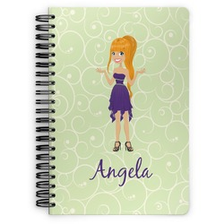 Custom Character (Woman) Spiral Bound Notebook (Personalized)