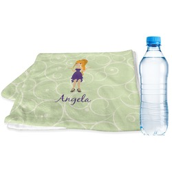 Custom Character (Woman) Sports & Fitness Towel (Personalized)