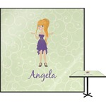 Custom Character (Woman) Square Table Top (Personalized)