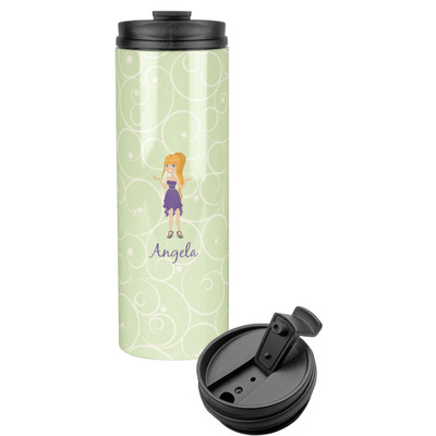 Custom Character (Woman) Stainless Steel Travel Tumbler (Personalized)