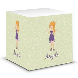 Custom Character (Woman) Sticky Note Cube (Personalized)