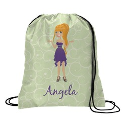Custom Character (Woman) Drawstring Backpack (Personalized)