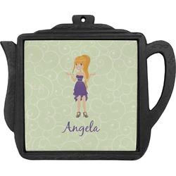 Custom Character (Woman) Teapot Trivet (Personalized)
