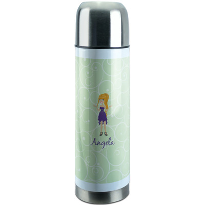Custom Character (Woman) Stainless Steel Thermos (Personalized)