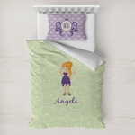 Custom Character (Woman) Toddler Bedding w/ Name or Text