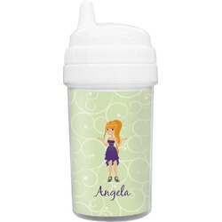 Custom Character (Woman) Toddler Sippy Cup (Personalized)