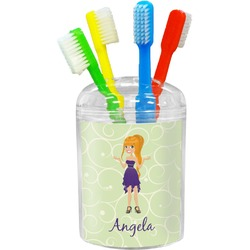 Custom Character (Woman) Toothbrush Holder (Personalized)