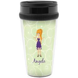 Custom Character (Woman) Travel Mugs (Personalized)