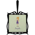 Custom Character (Woman) Trivet with Handle (Personalized)