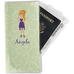 Custom Character (Woman) Travel Document Holder