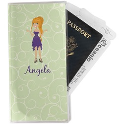 Custom Character (Woman) Travel Document Holder