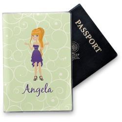 Custom Character (Woman) Vinyl Passport Holder (Personalized)