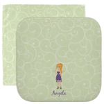 Custom Character (Woman) Facecloth / Wash Cloth (Personalized)