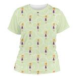 Custom Character (Woman) Women's Crew T-Shirt (Personalized)