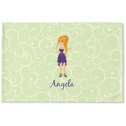 Custom Character (Woman) Woven Mat (Personalized)