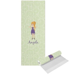 Custom Character (Woman) Yoga Mat - Printed Front (Personalized)