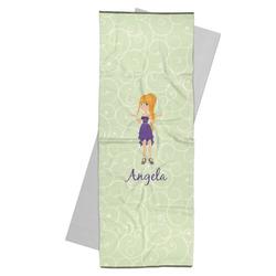 Custom Character (Woman) Yoga Mat Towel (Personalized)